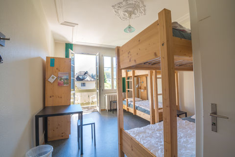4 or 6 bed Jungfrau room with private toilet